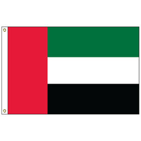 united arab emirates 5' x 8' outdoor nylon flag w/ heading & grommets