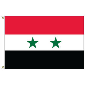 syria 2' x 3' outdoor nylon flag with heading and grommets