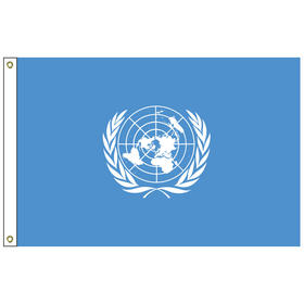 united nations 3' x 5' outdoor nylon flag w/ heading & grommets