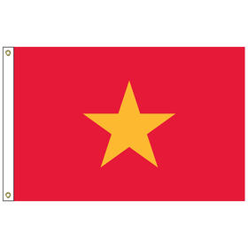 vietnam 5' x 8' outdoor nylon flag w/ heading & grommets