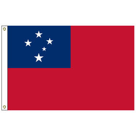 samoa western 2' x 3' outdoor nylon flag with heading and grommets