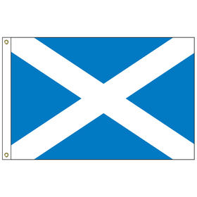 scotland with cross 2' x 3' outdoor nylon flag with heading and grommets