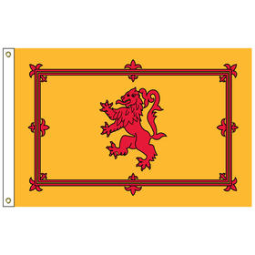 scotland with lion 2' x 3' outdoor nylon flag with heading and grommets