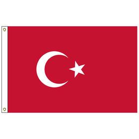 turkey 3' x 5' outdoor nylon flag w/ heading & grommets