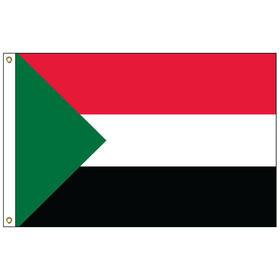 sudan 5' x 8' outdoor nylon flag w/ heading & grommets