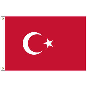 turkey 5' x 8' outdoor nylon flag w/ heading & grommets