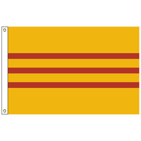 south vietnam 2' x 3' outdoor nylon flag with heading and grommets