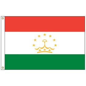 tajikistan 5' x 8' outdoor nylon flag w/ heading & grommets