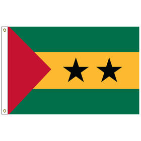 sao tome & principe 2' x 3' outdoor nylon flag with heading and grommets
