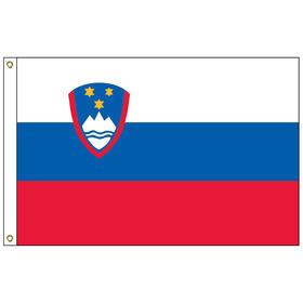 slovenia 3' x 5' outdoor nylon flag w/ heading & grommets
