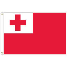 tonga 3' x 5' outdoor nylon flag w/ heading & grommets