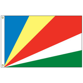 seychelles 4' x 6' outdoor nylon flag w/ heading & grommets