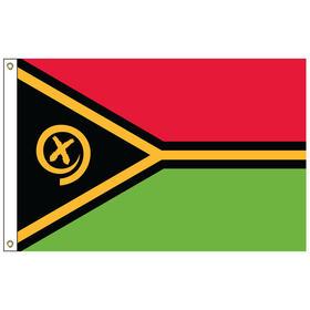 vanuatu 5' x 8' outdoor nylon flag w/ heading & grommets