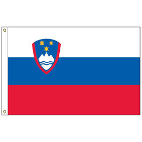 slovenia 2' x 3' outdoor nylon flag with heading and grommets