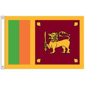 sri lanka 2' x 3' outdoor nylon flag with heading and grommets