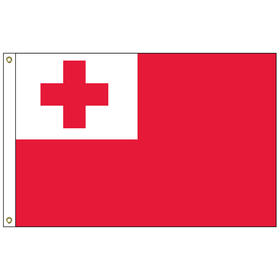 tonga 2' x 3' outdoor nylon flag with heading and grommets