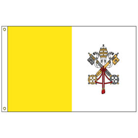 vatican city 2' x 3' outdoor nylon flag with heading and grommets