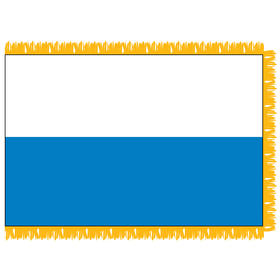 san marino 3' x 5' indoor nylon flag w/ pole sleeve & fringe