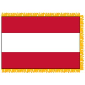 tahiti 3' x 5' indoor nylon flag w/ pole sleeve & fringe