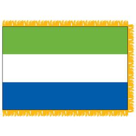 sierra leone 3' x 5' indoor flag w/ pole sleeve & fringe