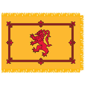 scotland (royal banner) 3' x 5' indoor nylon flag w/ pole sleeve & fringe