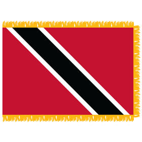 trinidad & tobago 4' x 6' indoor nylon flag w/ pole sleeve & fringe