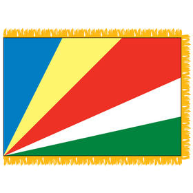 seychelles 3' x 5' indoor nylon flag w/ pole sleeve & fringe