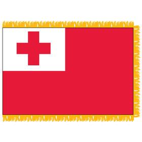 tonga 4' x 6' indoor nylon flag w/ pole sleeve & fringe