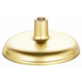 gold plastic floor stand - 2 lbs. unweighted
