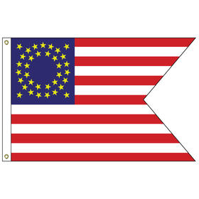cavalry guidon 3' x 5' outdoor nylon flag w/heading & grommets