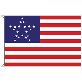 great star 3' x 5' outdoor nylon flag w/ heading & grommets