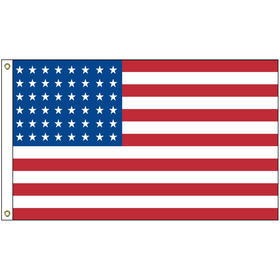 old glory 48 star 3' x 5' printed outdoor nylon flag w/heading & grommets
