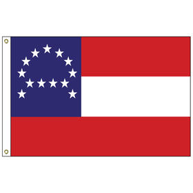 general lee's headquarters 3' x 5' outdoor nylon flag w/heading & grommets