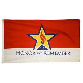 honor & remember 2' x 3' outdoor nylon flag