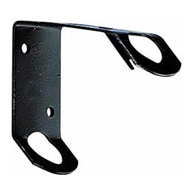 """black stamped steel bracket-for pole sizes 3/8"""" to 5/8"""""""