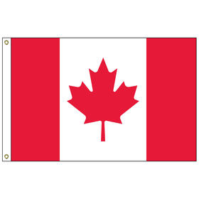 "canada 12"" x 18"" outdoor nylon marine flag with heading and grommets"