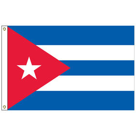 "cuba 12"" x 18"" outdoor nylon marine flag w/ heading & grommets"