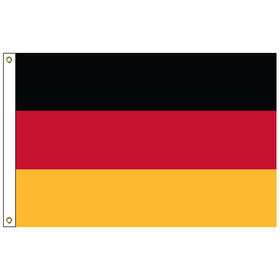 """germany 12"""" x 18"""" outdoor nylon marine flag with heading and grommets"""