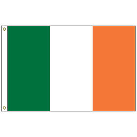 "ireland 12"" x 18"" outdoor nylon marine flag w/ heading & grommets"