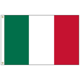 "italy 12"" x 18"" outdoor nylon marine flag with heading and grommets"