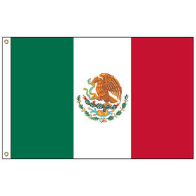 "mexico 12"" x 18"" outdoor nylon marine flag with heading and grommets"