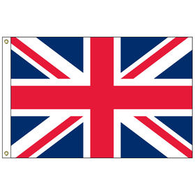 "united kingdom  12"" x 18"" outdoor nylon marine flag with heading and grommets"