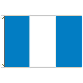 "guatemala 12"" x 18"" outdoor nylon marine flag with heading and grommets"