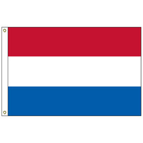 "netherlands 12"" x 18"" outdoor nylon marine flag w/ heading & grommets"