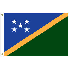 """solomon islands 12"""" x 18"""" outdoor nylon marine flag with heading and grommets"""