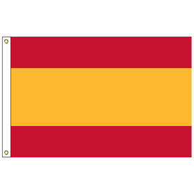 "spain civil 12"" x 18"" outdoor nylon marine flag with heading and grommets"