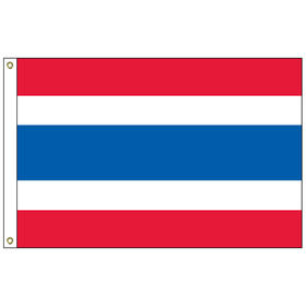 """thailand 12"""" x 18"""" outdoor nylon marine flag with heading and grommets"""