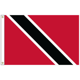 "trinidad & tobago 12"" x 18"" outdoor nylon marine flag with heading and grommets"