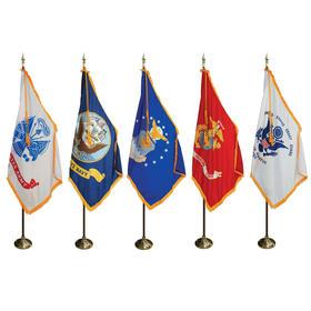 7' pole/3' x 5' flag - military indoor presentation set
