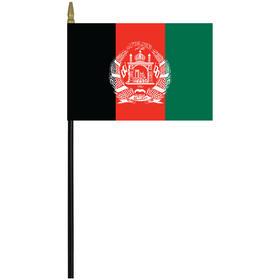"afghanistan 4"" x 6"" staff mounted rayon flag"